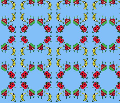 Fruity Friends fabric by sharpestudiosdesigns on Spoonflower - custom fabric