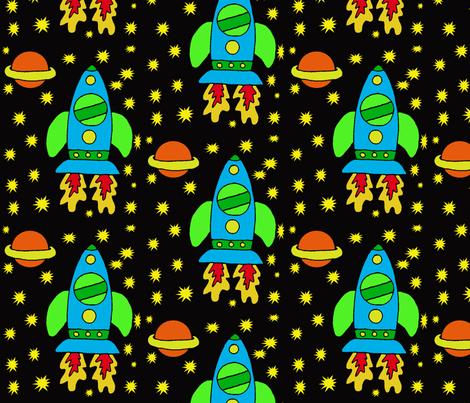ROCKETSHIP fabric by sharpestudiosdesigns on Spoonflower - custom fabric