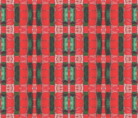 red/green borders forbidden palace tile beijing china fabric by waterglider on Spoonflower - custom fabric