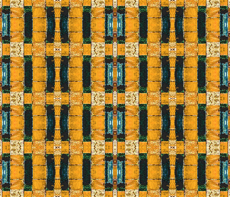 gold and blue borders forbidden palace beijing china fabric by waterglider on Spoonflower - custom fabric