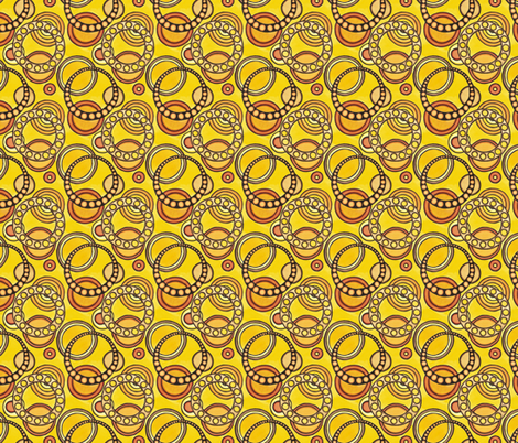 Yellow Circles Basic fabric by sarah_angst_arts on Spoonflower - custom fabric