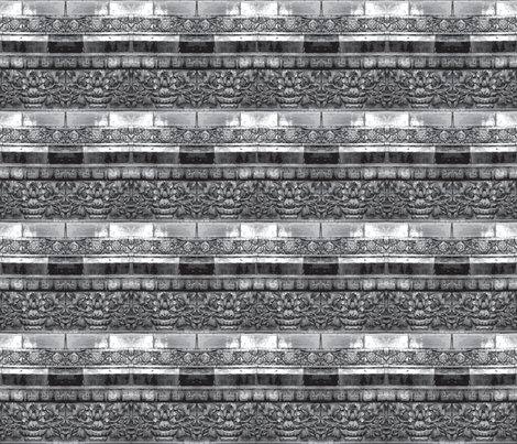 gray wall tile from forbidden palace beijing china 21 x 18 fabric by waterglider on Spoonflower - custom fabric