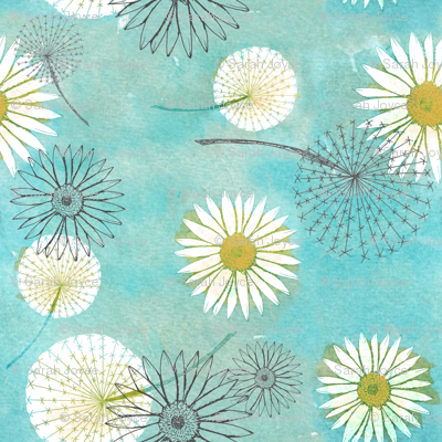 Dandelions and daisies