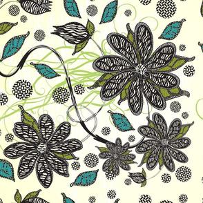 Zebra Blooms Pattern