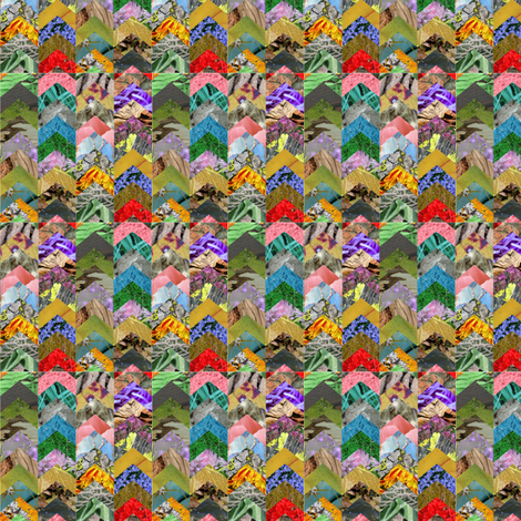 chevron collage fabric by lauredesigns on Spoonflower - custom fabric