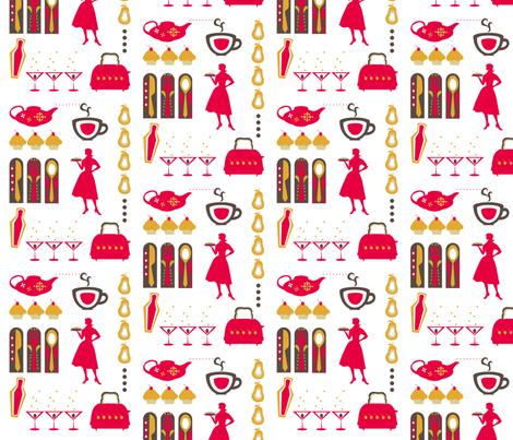 Retrodish fabric by ninjaauntsdesigns on Spoonflower - custom fabric
