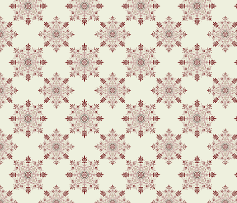 Victorian Parlor - Maroon fabric by studiofibonacci on Spoonflower - custom fabric