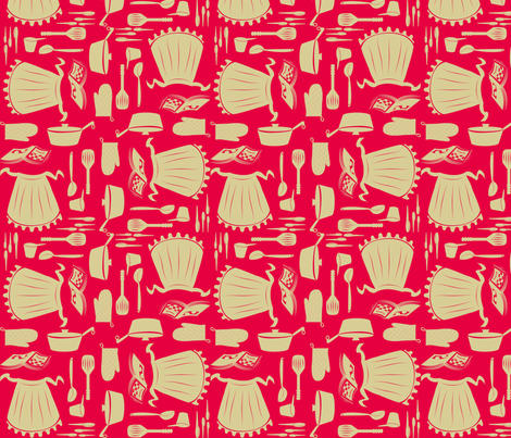 All Set Retro Kitchen fabric by periwinklepaisley on Spoonflower - custom fabric
