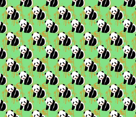 panda-monium fabric by suziwollman on Spoonflower - custom fabric