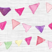Bunting on Linen