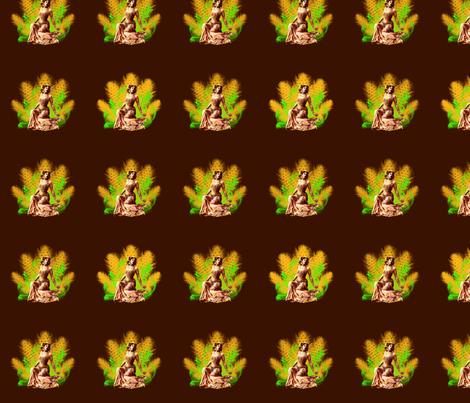 Vintage_chocolate_matahari fabric by lovekittypink on Spoonflower - custom fabric