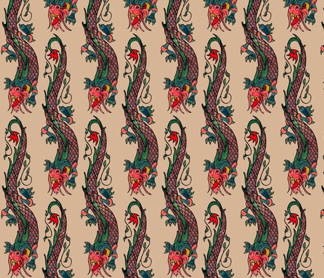 nude_dragon fabric by paragonstudios on Spoonflower - custom fabric