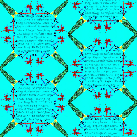 French Angels  Gabriel 15 Teal fabric by dovetail_designs on Spoonflower - custom fabric