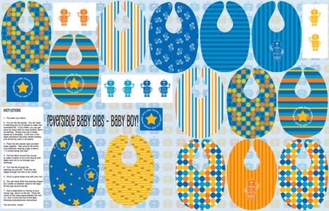 Reversible Bibs - Baby Boy fabric by shelleymade on Spoonflower - custom fabric