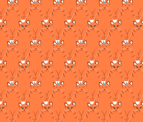 Enough to make a cat laugh fabric by alfabesi on Spoonflower - custom fabric