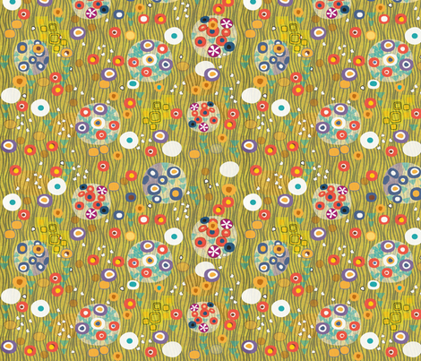After Klimt - Woman - gold fabric by glimmericks on Spoonflower - custom fabric