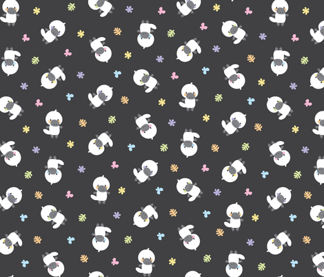 Cute white platypuses fabric by petitspixels on Spoonflower - custom fabric