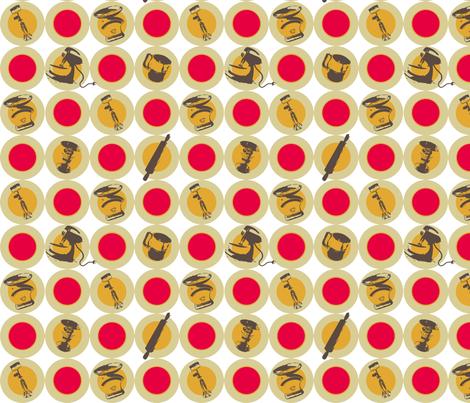 Rad Retro Kitchen Fabric fabric by mangomail on Spoonflower - custom fabric