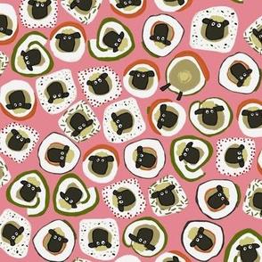 sheep sushi pink