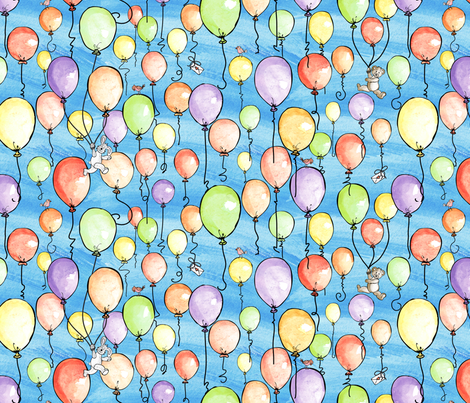 Balloon Festival fabric by jmckinniss on Spoonflower - custom fabric