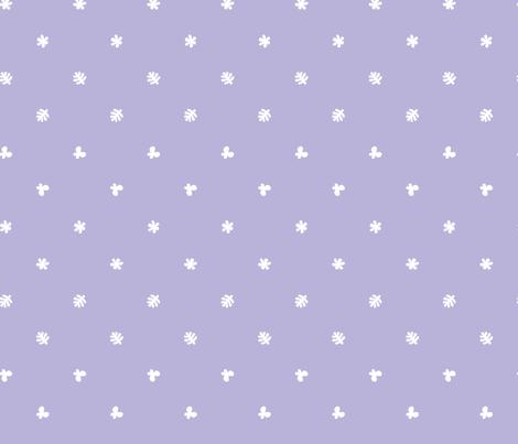 Polka leaves flowers and butterflies Purple fabric by petitspixels on Spoonflower - custom fabric