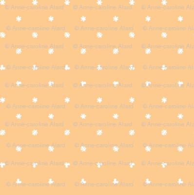 Polka leaves flowers and butterflies Orange