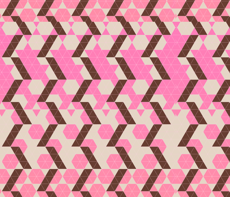 the salmon pink and brown fabric by zula on Spoonflower - custom fabric