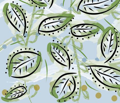 leaf44 fabric by owlandchickadee on Spoonflower - custom fabric