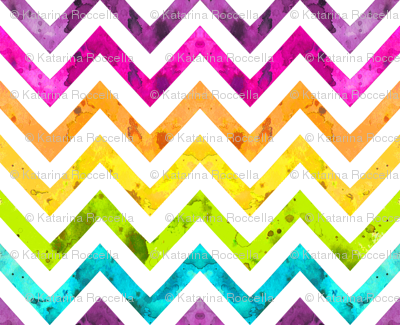 very large watercolor chevron