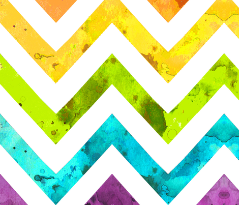 very large watercolor chevron fabric by katarina on Spoonflower - custom fabric