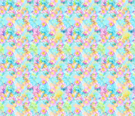 Breezes Watercolor Floral  fabric by joanmclemore on Spoonflower - custom fabric