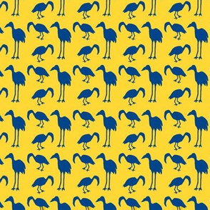 Feathered Flocks - Tall & Small, blue/yellow