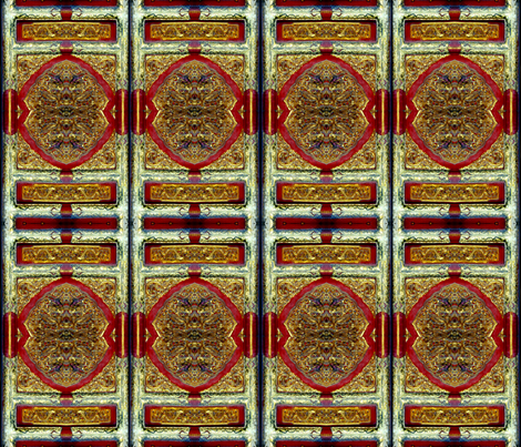 gold and silver gilded doors forbidden palace, china fabric by waterglider on Spoonflower - custom fabric