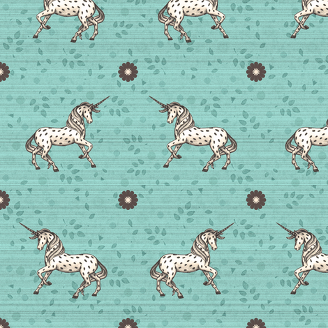 Unicorns are back fabric by lucybaribeau on Spoonflower - custom fabric
