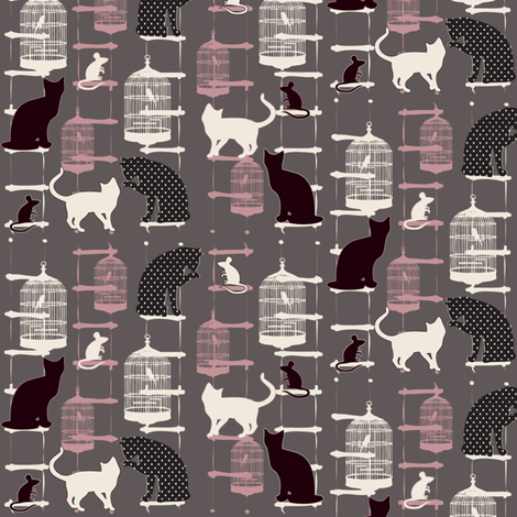 cats and ladders fabric by kociara on Spoonflower - custom fabric