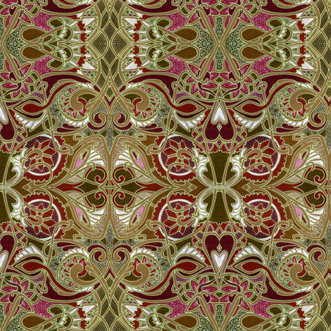 Follow Your Heart fabric by edsel2084 on Spoonflower - custom fabric