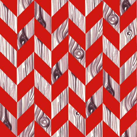 Fox Woodgrain Herringbone fabric by nightgarden on Spoonflower - custom fabric