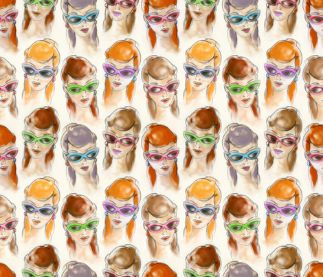Girls fabric by cassiopee on Spoonflower - custom fabric