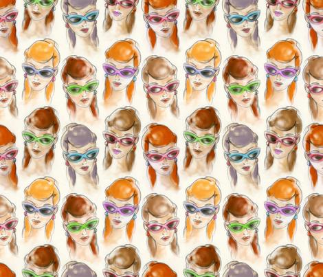 Girls fabric by cassiopee on Spoonflower - custom fabric