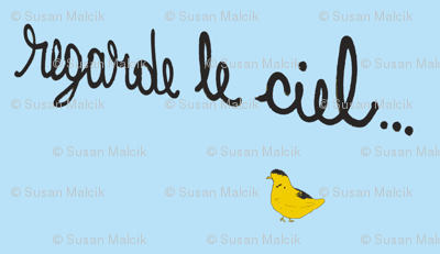 Regarde le Ciel with Yellow Bird-small for quilters