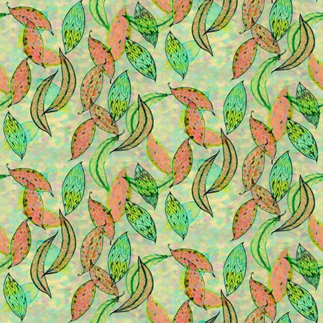 Love leaves, small fabric by su_g on Spoonflower - custom fabric