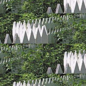White Picket Fence Zigzag, S