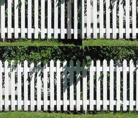 White Picket Fence L fabric by animotaxis on Spoonflower - custom fabric
