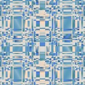Aqua and Beige Complicated Geometric © Gingezel™ 2012