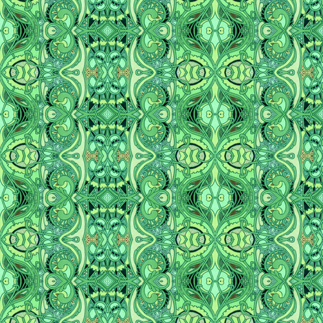 Green Onions and all that Jazz fabric by edsel2084 on Spoonflower - custom fabric