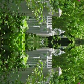 White Picket Fence Design Border, L