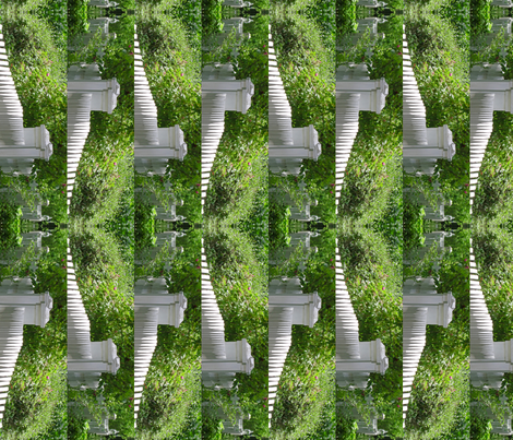 White Picket Fence Design Border, S fabric by animotaxis on Spoonflower - custom fabric