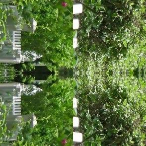 White Picket Fence Design Border, S