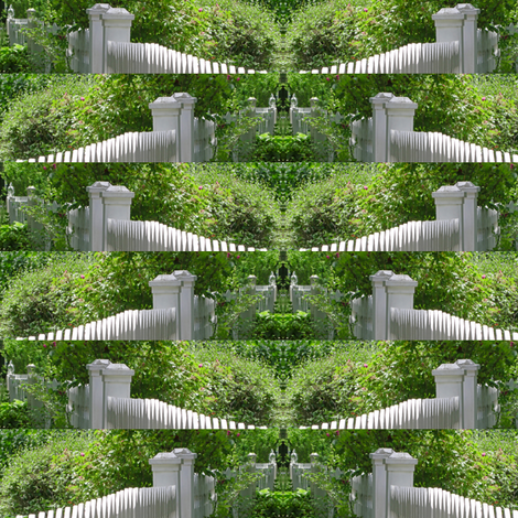 White Picket Fence Design, S fabric by animotaxis on Spoonflower - custom fabric