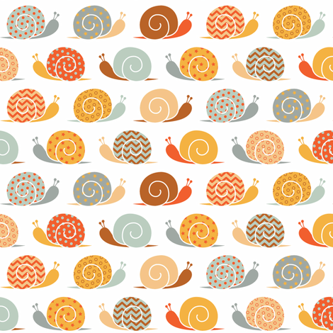 snails on parade fabric by cheyanne_sammons on Spoonflower - custom fabric